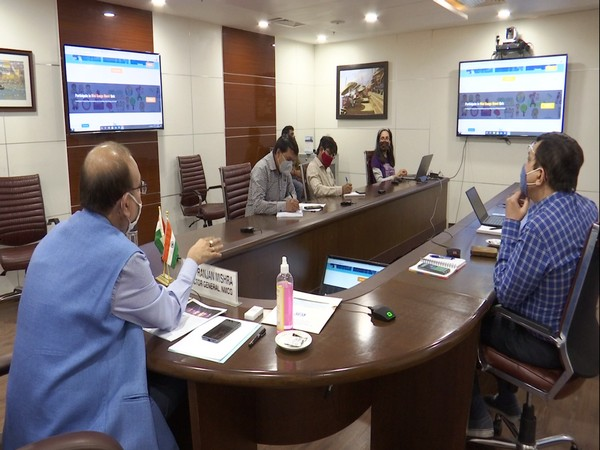 National Mission for Clean Ganga members meeting to discuss on Ganga Utsav 2020. Photo/ANI
