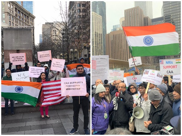 Members of Indian diaspora in US hold rally in Seattle, Chicago in support of CAA