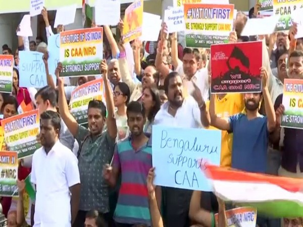 People participated in pro CAA march in Bengaluru on Sunday [Photo/ANI]