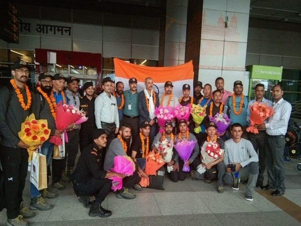 After successfully summitting Mt Everest, NSG team returned back to Delhi