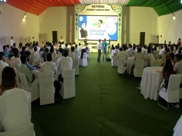 Visuals from NSUI meeting in Delhi.