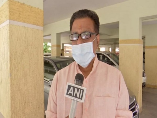 Telangana BJP spokesperson, NV Subhash, talking to ANI on Wednesday. Photo/ANI
