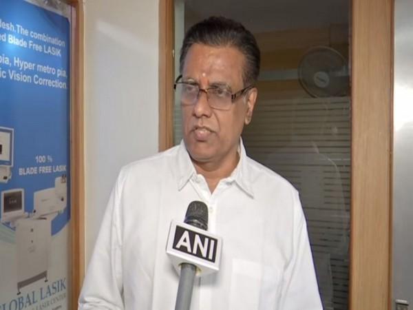 Telangana BJP Spokesperson NV Subhash (Photo/ANI)