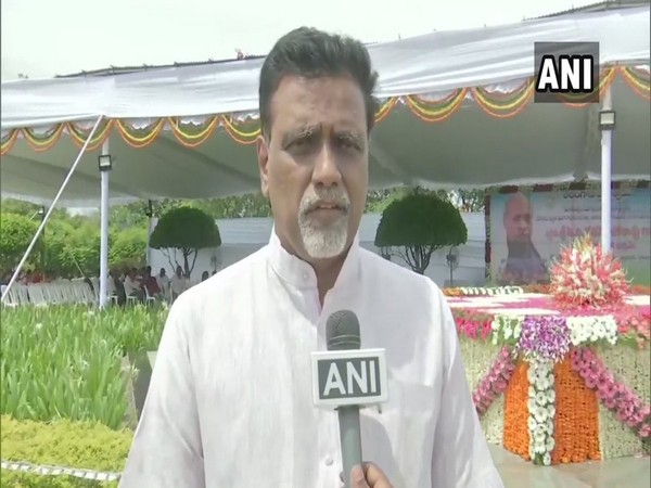 Grandson of former prime minister PV Narasimha Rao, NV Subhash, speaking to ANI in Hyderabad on Friday.