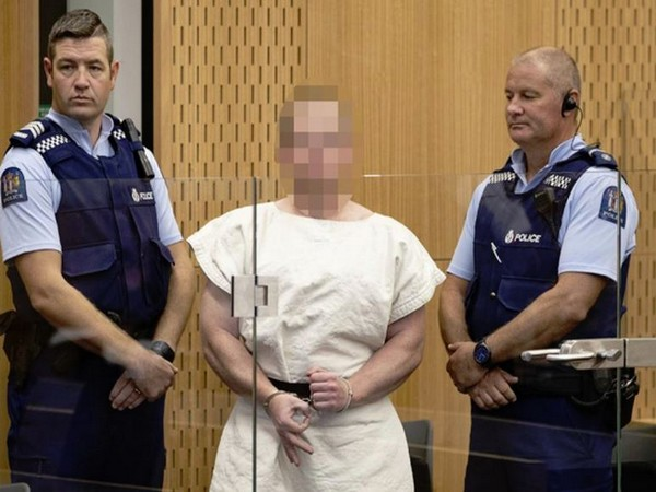 The 28-year-old terror accused in a Christchurch court on March 16 .
