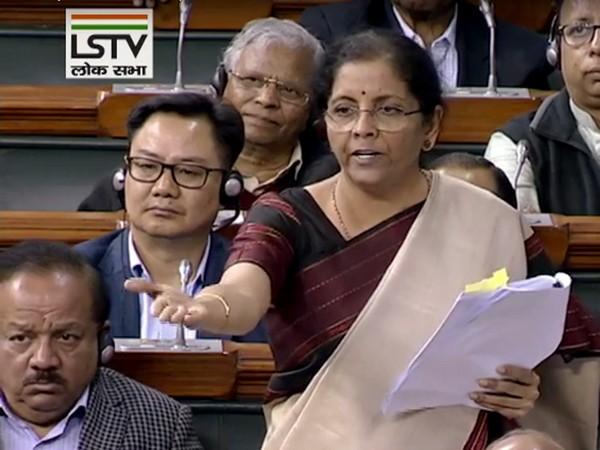Union Finance Minister Nirmala Sitharaman [Photo/ANI]