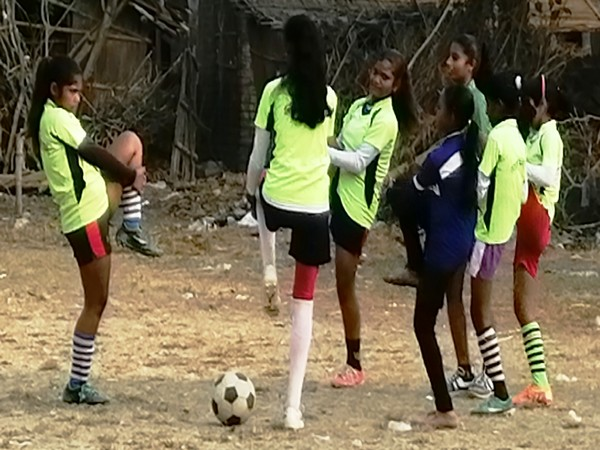 Girls participating in Golden Baby League Nabadwip, West Bengal (Photo/ AIFF)