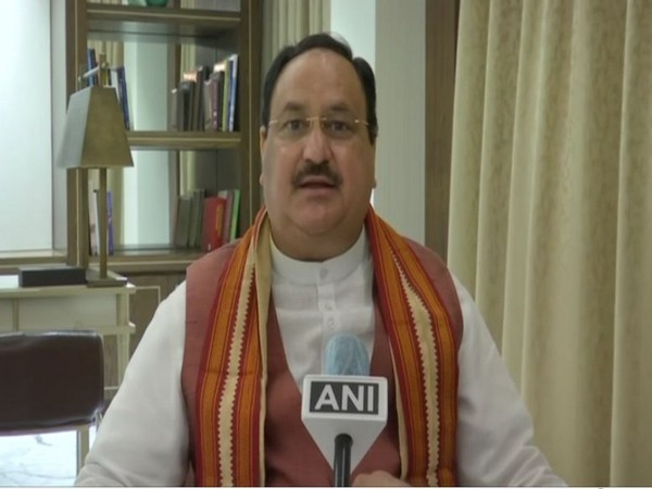 BJP chief JP Nadda speaking to ANI in Kolkata on Wednesday.