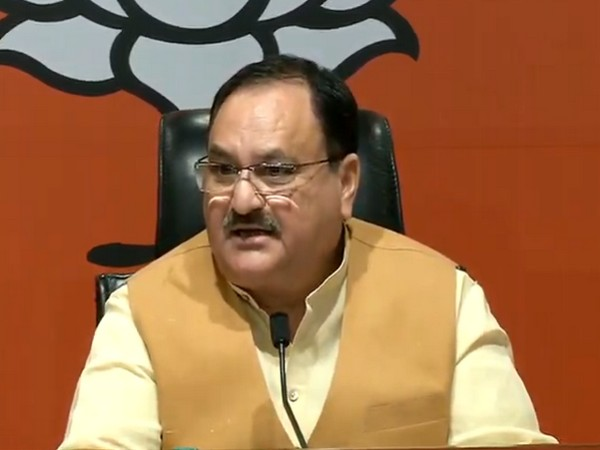 BJP working president JP Nadda addressing a press conference in New Delhi on Thursday. (Photo/ANI)