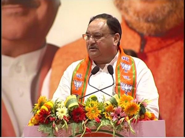 BJP working President JP nadda speaking in Varanasi on Saturday (Photo/ANI)