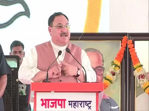 BJP chief JP Nadda speaking at the state executive meeting in Maharashtra on Sunday.