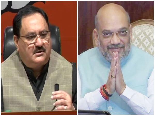 BJP President Jagat Prakash Nadda (left) and Union Home Minister Amit Shah