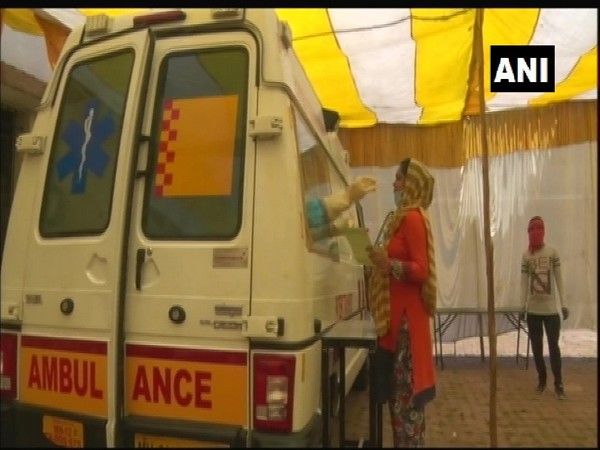Mobile dispensary to screen pregnant women for COVID-19 in containment zones in Nagpur. Photo/ANI