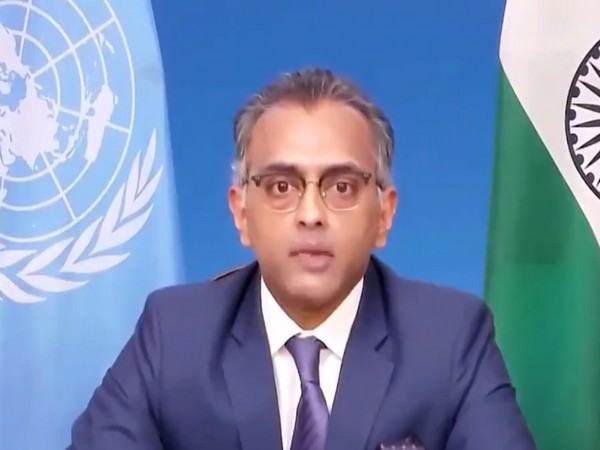 Nagraj Naidu, India's Deputy Permanent Representative to UN speaking at a UNSC meeting.