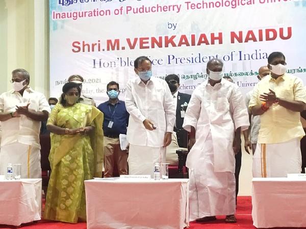 Vice President Venkaiah Naidu inaugurating Puducherry Technological University (Photo/ANI)