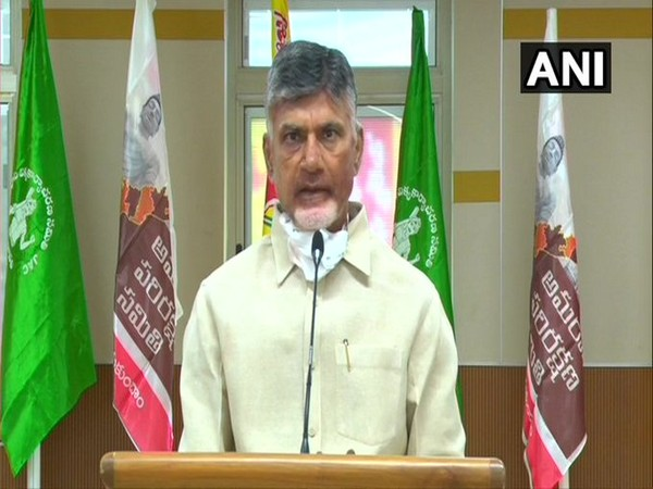 TDP Chief N Chandrababu Naidu expressing solidarity for farmers' protest against the decentralization of Andhra Pradesh's capital.