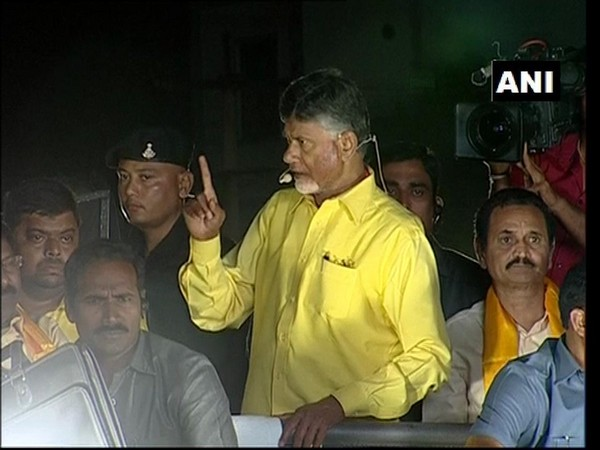 CM Chandrababu Naidu addressing a public rally in Pendurthi, Visakhapatnam (Andhra Pradesh) on Friday.