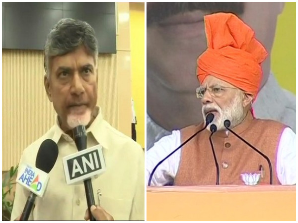 Andhra Pradesh Chief Minister N Chandrababu Naidu (left) and Prime Minister Narendra Modi (right)