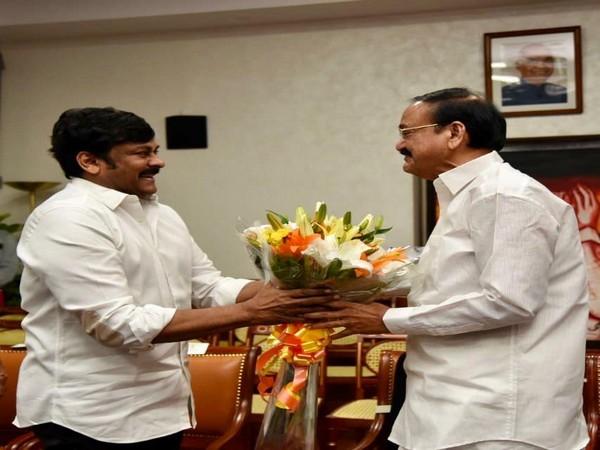 Telugu superstar Chiranjeevi met Vice President M Venkaiah Naidu on Wednesday.