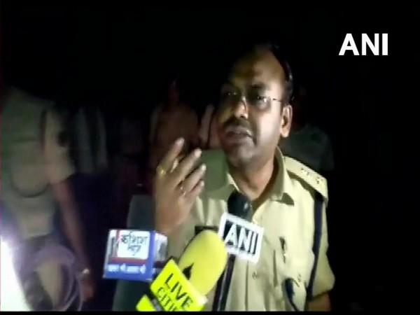 Superintendent of Police (SP) Nalanda Nilesh Kumar speaking to reporters in Nalanda, Bihar on Sunday night.