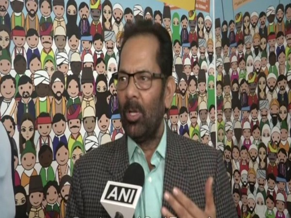 Union Minority Affairs Minister Mukhtar Abbas Naqvi speaks to ANI in New Delhi on Tuesday [Photo/ANI]