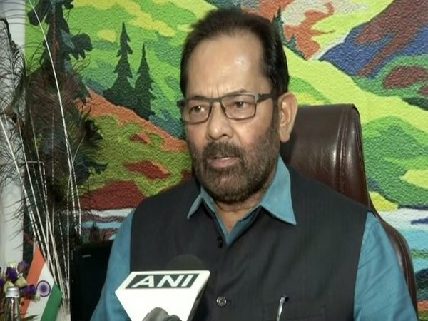 Union Minister Mukhtar Abbas Naqvi speaking to ANI about the journalist Vikram Joshi, who was shot ready on July 20.