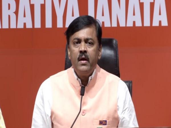 BJP spokesperson G V L Narasimha Rao speaking to reporters in New Delhi on Thursday. (Photo/ANI)
