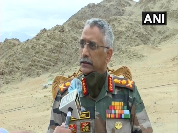 Army Chief MM Naravane speaking to ANI in Leh on Friday.