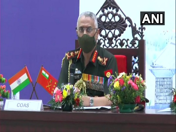 Army Chief General MM Naravane addressing a press conference in Kannur on Saturday. Photo/ANI