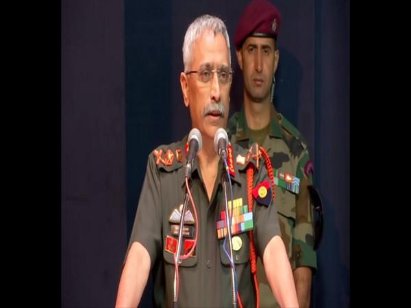 Army Chief General Manoj Mukund Naravane speaking at an event in Pune on Saturday. Photo/ANI