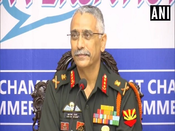 Head of Eastern Army Command Lieutenant General MM Naravane speaking at an event in Kolkata, West Bengal on Tuesday. Photo/ANI