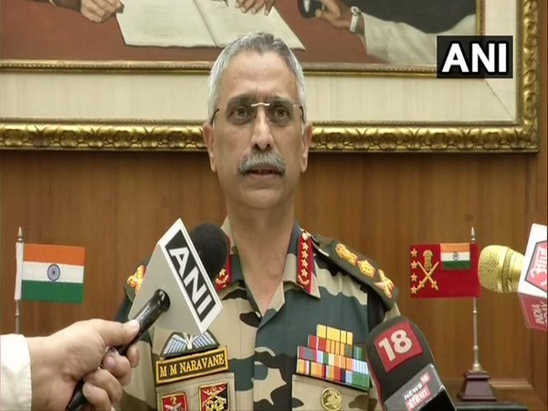 Army Chief General MM Naravane speaking to reporters in New Delhi on Friday. Photo/ANI
