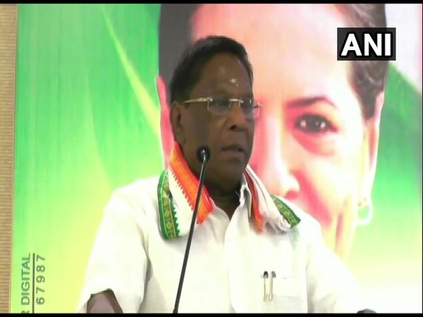 Puducherry CM V Narayanasamy speaking at an event on Friday. Photo/ANI