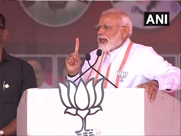 Prime Minister Narendra Modi addressing a public rally in Tamil Nadu's Theni