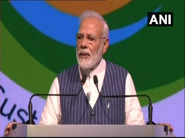 Prime Minister Narendra Modi addressing the 14th Conference of Parties (COP14) in Greater Noida on Monday