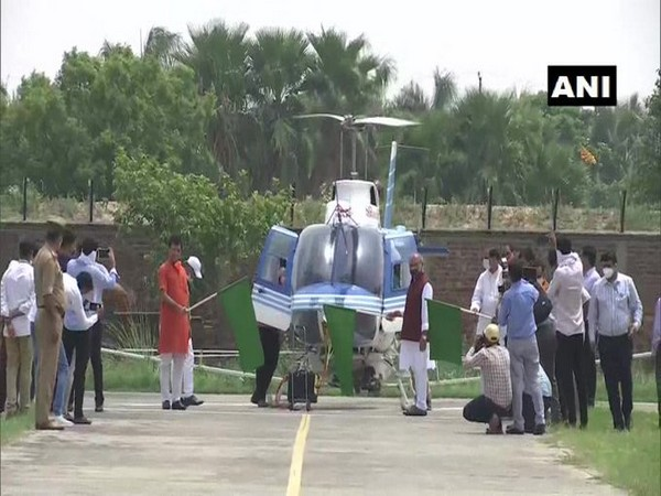 Union Minister Narendra Singh Tomar flags off helicopter for locust control operations