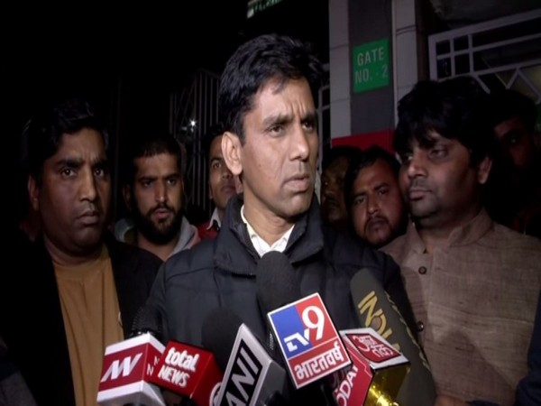 AAP MLA from Mehrauli Naresh Yadav speaking to reporters in New Delhi on Wednesday. Photo/ANI
