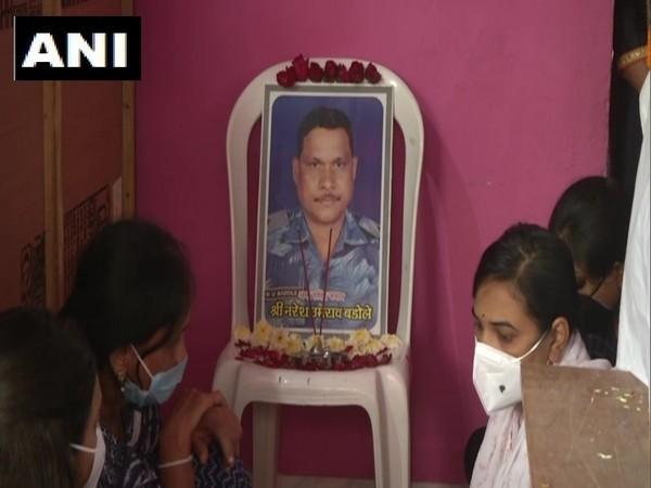 CRPF ASI Naresh Badole lost his life in a terrorist attack.  [Photo/ANI]