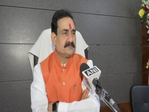 Narottam Mishra speaking to ANI on Tuesday in Bhopal.