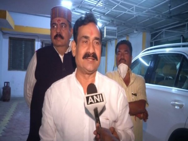 BJP leader Narottam Mishra speaking to ANI in Bhopal on Tuesday. [Photo/ANI]
