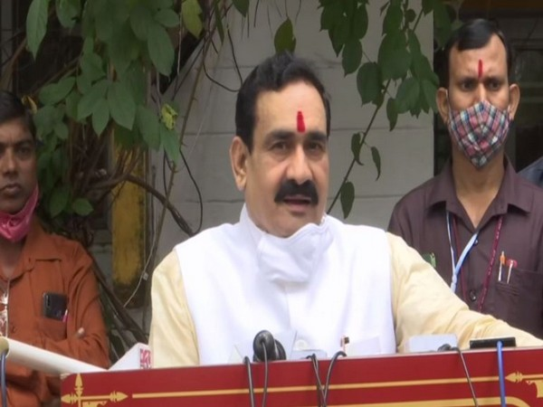 Narrotam Mishra speaking to the media in Bhopal on Thursday. Photo/ANI