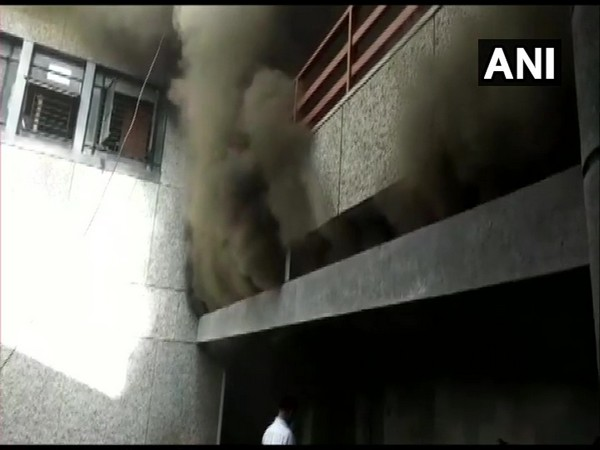 Visual of fire at the Mahanagar Palika Building (Photo/ANI)