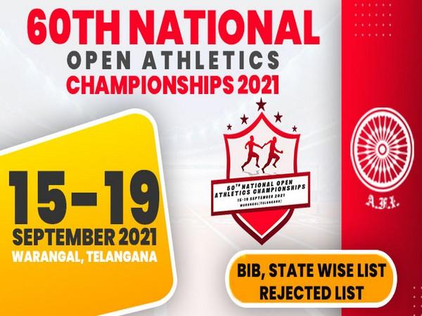National Open Athletics Championship logo
