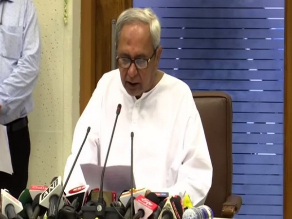 Odisha Chief Minister Naveen Patnaik addressing a press conference in Bhubaneshwar. Photo/ANI