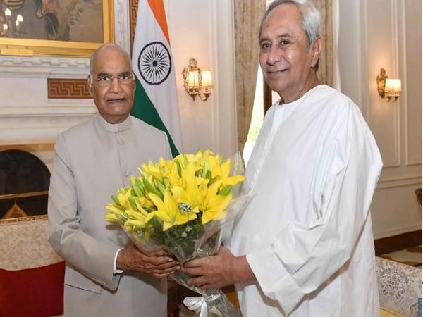 Odisha Chief Minister Naveen Patnaik called on President Ram Nath Kovind in New Delhi on Tuesday. Photo/ANI