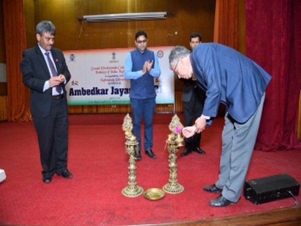 First Secretary (FS) at the Embassy of India Naveen Kumar inaugurating Ambedkar Jayanti in Kathmandu (Photo Credit - Embassy of India, Nepal)