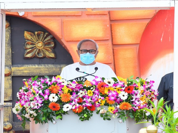 Odisha Chief Minister Naveen Patnaik addressing the public in Bhubaneswar on Saturday. (Picture courtesy: Naveen Patnaik's Twitter)