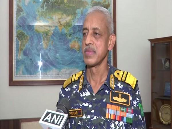 Indian Navy Deputy Chief Vice Adrimal MS Pawar (Photo/ANI)