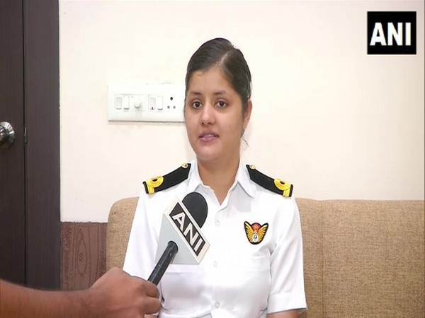 Sub Lieutenant Riti Singh speaking to ANI on Tuesday. Photo/ANI