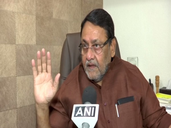 NCP leader Nawab Malik talking to ANI in Mumbai, Maharashtra on Thursday. Photo/ANI